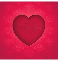 Retro heart on old royal background vector