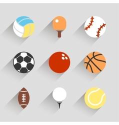 Sport balls icon set - white app buttons vector