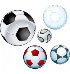 footballs vector image