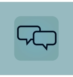 Pale blue chat icon vector