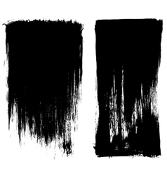 Grunge brush stroke background frames vector