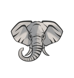 Elephant portrait vector