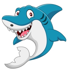 cute cartoon shark vector image