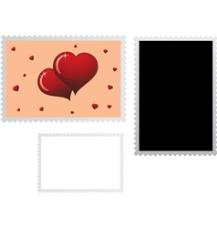 postage stamp for valentines vector image