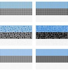Mosaic estonia flag set vector