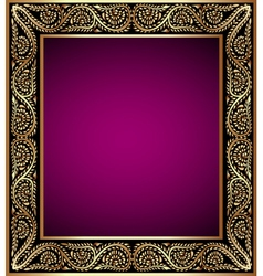Vintage frame with vegetable golden pattern vector