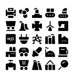 Industrial colored icons 9 vector