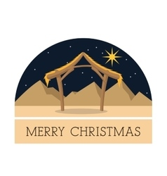 Hut icon merry christmas design graphic vector