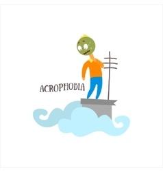 Acrophobia vector