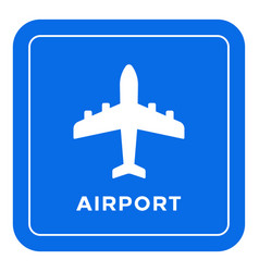 Airport road sign vector