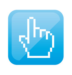 color square with hand cursor icon vector image vector image