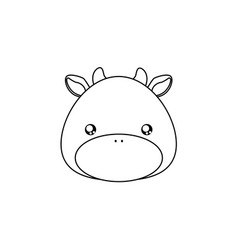 cow drawing face vector image vector image