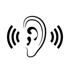 ear icon vector image vector image