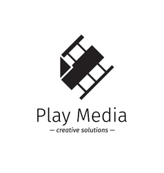 film logo with play sign Media business vector image vector image