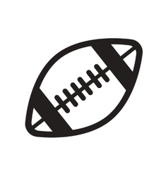 Flat icon in black and white style rugby ball vector