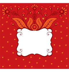 Floral decorative card vector image vector image