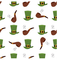 green material leprechaun hat with brown leather vector image vector image