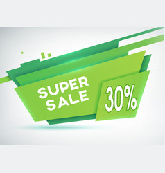Green sale shopping poster vector