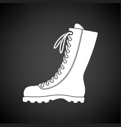 hiking boot icon vector image