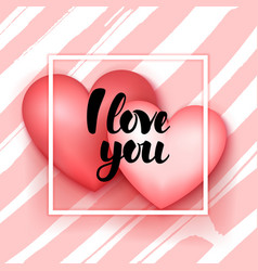 I love you hearts vector