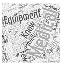 Medical equipment sales career word cloud concept vector