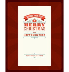 Merry Christmas invitation card ornament decoratio vector image