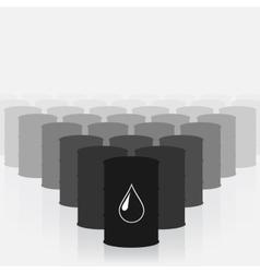 Oil barrels set vector