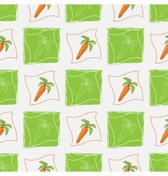 Pattern with carrot vector