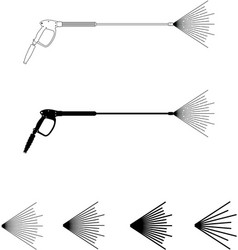 power washer sprayer wand with pattern vector image