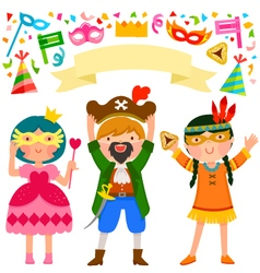 Purim party vector