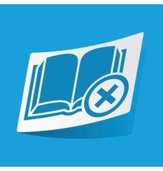 Remove book sticker vector