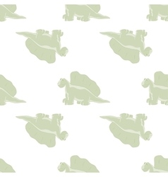 Ridiculous dinosaurs on a white background vector