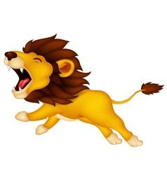 Roaring cartoon lion vector