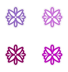 Set of paper stickers on white background arabic vector