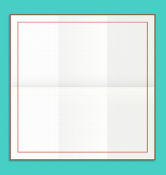 squared paper for sketching vector image vector image