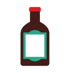Tequila bottle alcohol icon vector