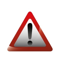 triangle alert signal icon vector image vector image