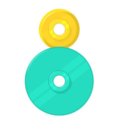 Two round gears icon cartoon style vector