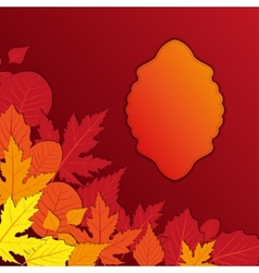 vintage frame with autumn leaves vector image