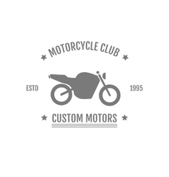 Vintage motorcycle club logo vector image