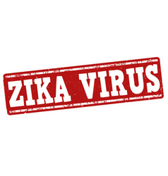 zika virus stamp vector image