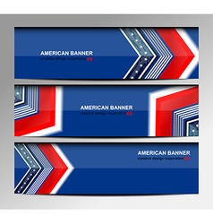 Usa banners template design vector