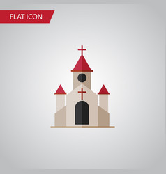 Isolated catholic flat icon traditional vector