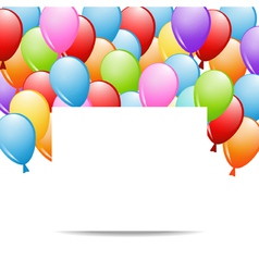 Greeting card with balloons vector