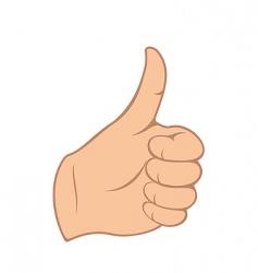 thumb gesture vector image
