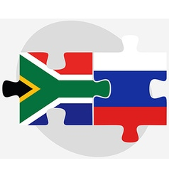 South africa and russian federation in puzzle vector