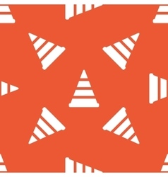 Orange traffic cone pattern vector
