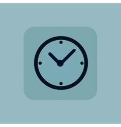 Pale blue clock icon vector