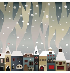 Snow city vector