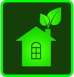 Icon of eco house vector